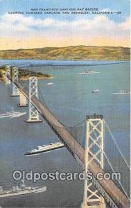 Bridges Vintage Collectable Postcards Berkeley, CA, USA San Francisco Oakland...