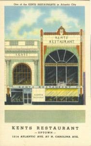 Kent's Restaurant, Atlantic City, N.J old unused linen Po...