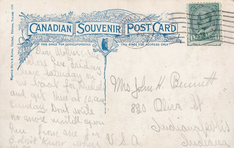 MONTREAL, Quebec, Canada, PU-1909; Victoria Bridge