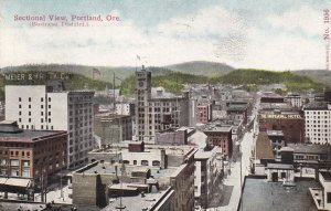 PORTLAND, Oregon, PU-1913; Sectional View, Business District