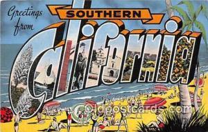 Linen California, USA Postcard Post Cards California, USA Linen