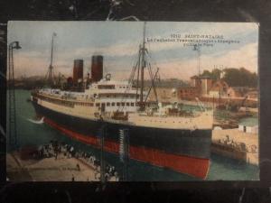 Mint France Picture Postcard SS Espagne Passenger Ship At Port