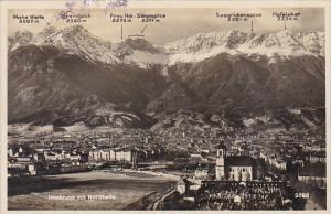 Austria Innsbruck mit Nordkette Panorama  Real Photo