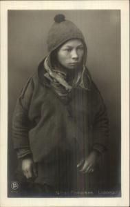 Norway Finmarken Sami Laplander Lappegut Ethnic c1910 FINE PHOTOGRAPHY RPPC