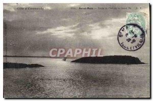 Postcard Old Emerald Coast Saint Malo Sky Study on the Grand Be