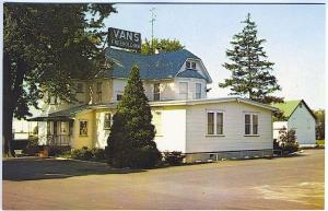 Freehold NJ Van's Freehold Inn Lodging Vintage Postcard