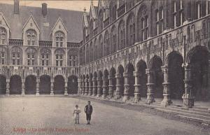 Liege - Children walking in La Cour du Palais de Justice, Belgium, 10-20s
