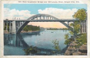 New Suspension Bridge over Willamette River Oregon City