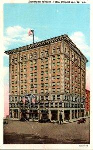West Virginia Clarksburg Stonewall Jackson Hotel Curteich