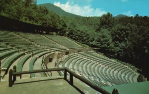 Indian Village Cherokee, NC, Mountainside Theater, Chrome Vintage Postcard g8942