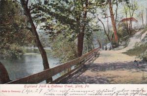 Pennsylvania York Highland Park & Codorus Creek 1907