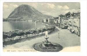 LUGANO , Ticino, Switzerland, 00-10s    Quai e Monte S. Salvatore