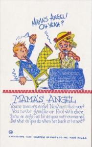 Humour Mutoscope Card Mama's Angel