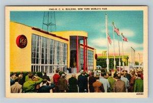 1939 New York World's Fair - The RCA Building - Linen Postcard