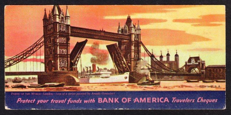 Bank of America Travelers Checks blotter