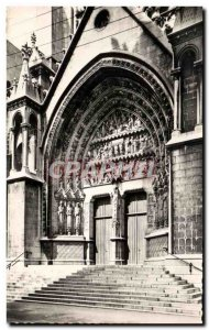 Postcard Old Lille Cathedral N D Treille Portal Saint Eubert