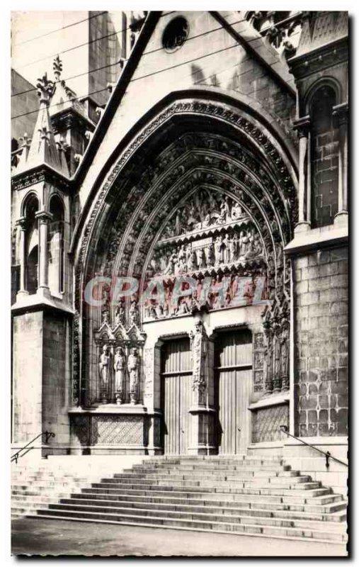 Postcard Old Lille Cathedral N D Treille Portal Saint Eubert