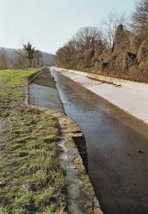 Kennet & Avon Canal Avoncliff December 1978 Boat Wiltshire Postcard