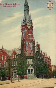 Baltimore Md 2nd Empire: Everything Points Up @ The State Normal School~c1910 pc