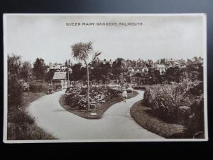 Cornwall: Falmouth, Queen Mary Gardens - Old Postcard