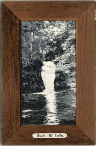 Buck Hill Falls Pennsylvania~The Falls~Woodgrain Border Frame~c1905 Rotograph PC