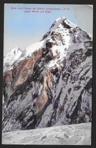 View of Eiger & Monk Mts. from Jungfrau Rail Station SWITZERLAND Unused c1910s