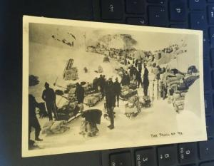 Vintage Postcard: The Trail of 98. Canada Gold Rush
