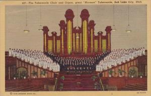 the Tabernacle Choir And Organ Great Mormon Tabernacle Salt Lake City Utah 1951