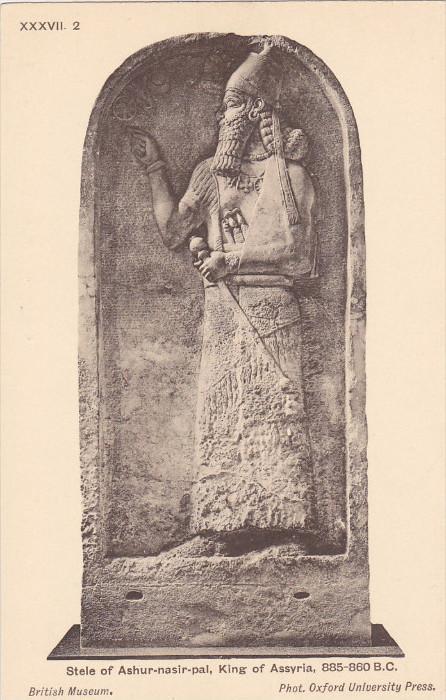 Stele of Ashur-nasir-pal , King of Assyria , 00-10s