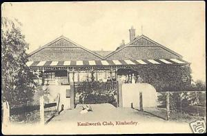 south africa, KIMBERLEY, Kenilworth Club (ca. 1899)