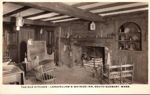 Massachusetts South Sudbury Longfellow's Wayside Inn The Old Kitchen Rea...