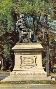 The Longfellow Statue Portland ME Unused