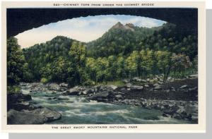 Smoky Mountains Nat'l Park,NC/TN Postcard, Chimney,Nr Mint!