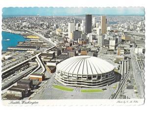 Kingdome Stadium in Seattle Washington c1975 4 by 6 card