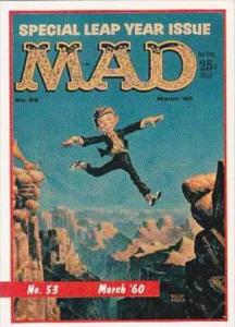 Lime Rock Trade Card Mad Magazine Cover Issue No 53 March 1960
