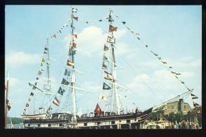 Mystic Seaport, Conn/CT Postcard, Charles W Morgan Whaleship