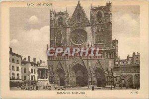 Old Postcard Lyon Artistic Cathedrale Saint Jean