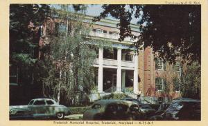 FREDERICK, Maryland, 40-60's ; Frederick Memorial Hospital, Classic Cars