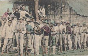 PHILIPPINES, PU-1908; Rebel soldiers waiting to surrender at CEBU