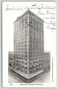 Cincinnati OH~How is This For A Tall Bldg? Union Trust~Chicago Beats It Tho~1900