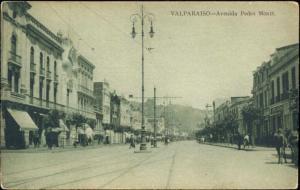 chile, VALPARAISO, Avenida Pedro Montt (1920s)