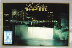 New York Rochester High Falls On Genesee River