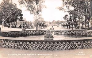 Mexico Old Vintage Antique Post Card Fuente de la Ranas Chapultepec Postal Us...