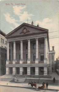 York Pennsylvania Court House Antique Postcard J50398