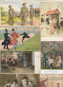Fantasy - People Art Nouveau Postcard Lot of 20 - 01.07