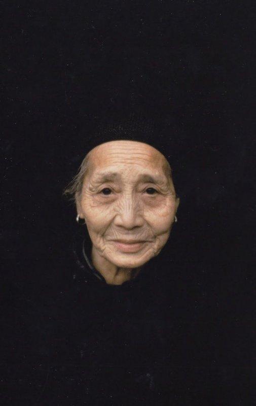 Retired Elderly Chinese Lady China Woman 1979 Award Photo Postcard