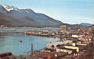 Juneau AK~Harbor of Gastineau Channel~Big Coca-Cola Billboard 1960s John Rain PC