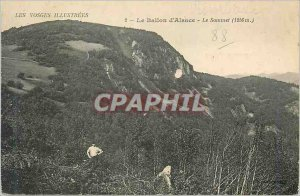 Old Postcard Illustrated Vosges The Ballon d'Alsace The Summit