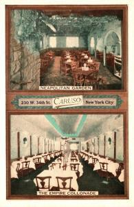 New York City Caruso Restaurants Neapolitan Garden & Empire Collonade