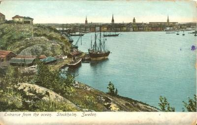 Sweden, Entrance from the Ocean, Stockholm, early 1900s u...